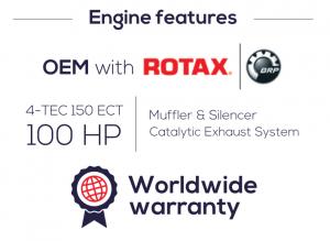 Los ABJETs tienen un motor de Rotax.