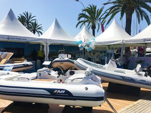 Exposition of the ABinflatables at the Yacht Center Palma stand
